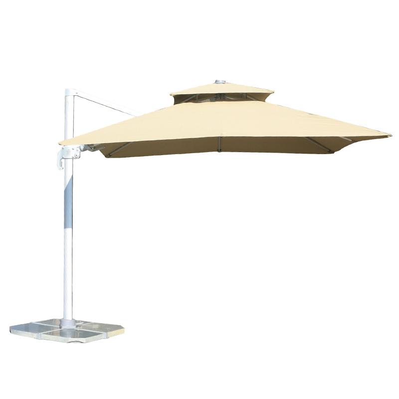 MYB-004-Q Paraguas basculante de doble techo